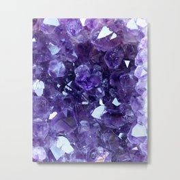 Raw Amethyst - Crystal Cluster Metal Print