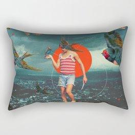 The Boy and the Birds Rectangular Pillow