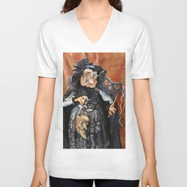 Rucus Studio Late to the Party - Pumpkin Lady Unisex V-Neck