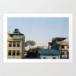Boudhanath, Nepal. Film Photography  Art Print