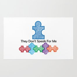 Autism Speaks Doesn't Speak for Me Rug