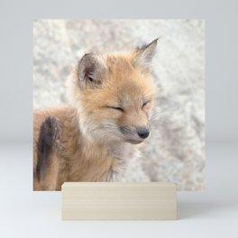 Watercolor Fox, Red Fox 94, Union Reservoir, Boulder Mini Art Print