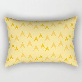 Yellow Arrow Pattern Rectangular Pillow