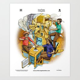 The Fantastic Craft Coffee Contraption Suite - The Fantastic Craft Coffee Contraption Art Print