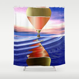 Hot Air Balloon Shower Curtain
