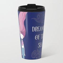 Dreaming of the Sea Mermaid - Undersea Cute Mermaid Travel Mug