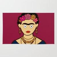 frida kahlo Area & Throw Rugs featuring Frida Kahlo by evannave