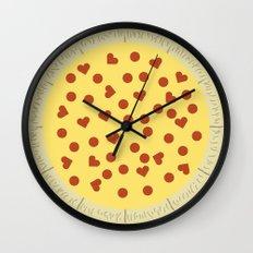 Pizza - My One True Love Wall Clock