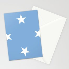 Federated States of Micronesia flag emblem Stationery Cards