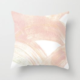 Pink Swipes Throw Pillow