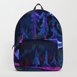 By the River Below the Mountains landscape painting by Ernst Ludwig Kirchner Backpack