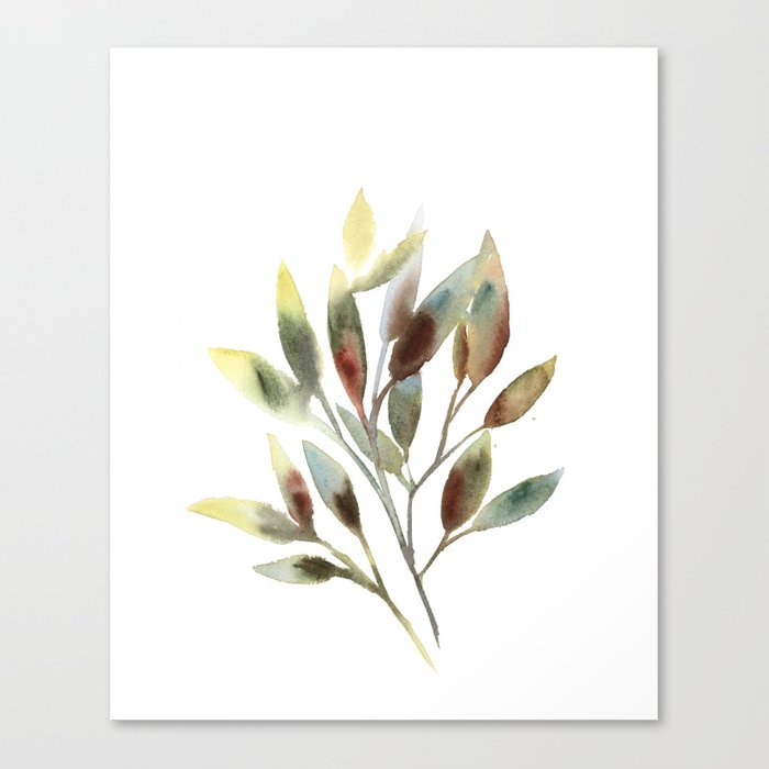 Leaves branch Canvas Print