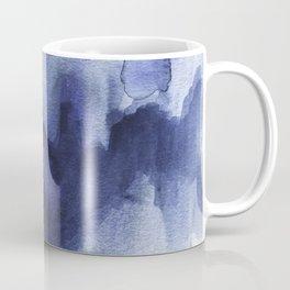 Moody Indigo Abstract Watercolor Coffee Mug