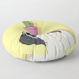 Pug Flower Pot Cactus Floor Pillow