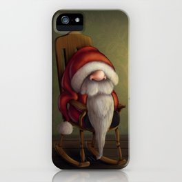 New edit: Little Santa in his rocking chair iPhone Case