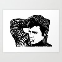 elvis presley Art Prints featuring Elvis Presley by Hippy Hoo Ha