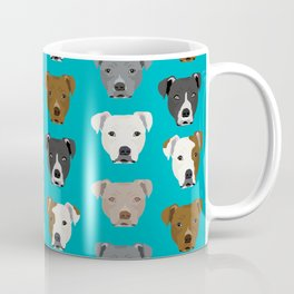 Pitbull faces dog art dog pattern pitbulls cute gifts for rescue dog owners Coffee Mug