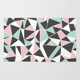 AbLines with Blush Mint Blocks Rug