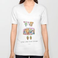 how i met your mother V-neck T-shirts featuring How I Met Your Father by mariorigami