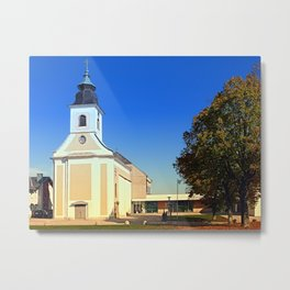 The village church of Kirchschlag I | architectural photography Metal Print
