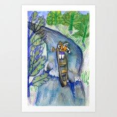 The New Canoe Canal Art Print