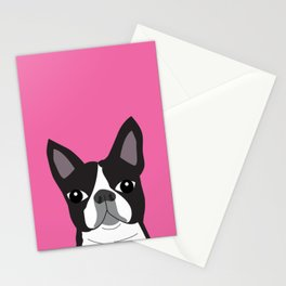 Boston Terrier Lilly Stationery Cards