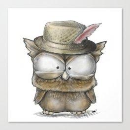 I'll show you a Hoot! - Angry Owl Illustration - Kawaii Canvas Print