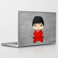 akira Laptop & iPad Skins featuring A Boy - Kaneda (Akira) by Christophe Chiozzi