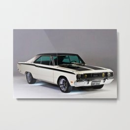 1971 Brazilian MOPAR Charger RT Rare Muscle Car Metal Print
