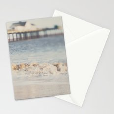 the waves running up against your feet ... Stationery Cards