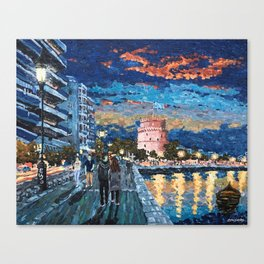 Greece: Thessaloniki In Memory Canvas Print