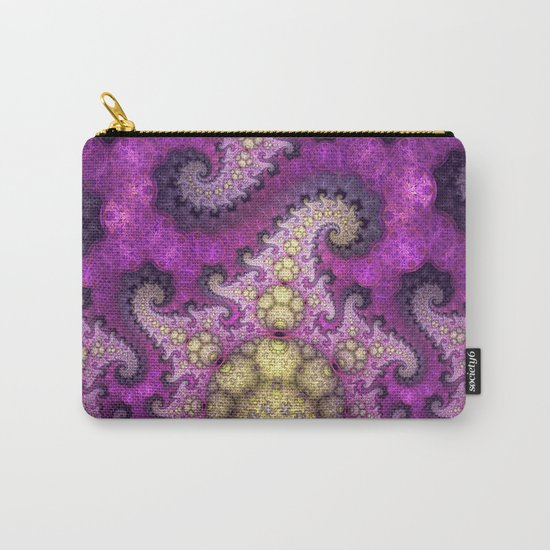 Dragon spirals and orbs in pink, purple and yellow Carry-All Pouch