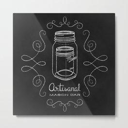 Artisanal Mason Jar Metal Print