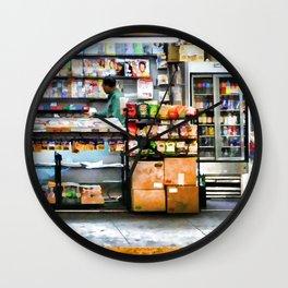 Subway News Stand Vendor Wall Clock