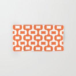 Mid Century Modern Ogee Pattern 305 Orange Hand & Bath Towel