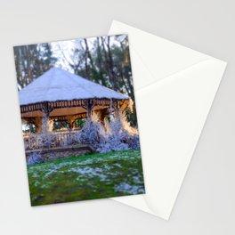 Kiosk in winter Stationery Cards