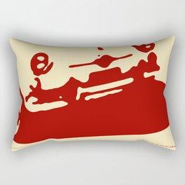 Fiat 600 Detail, Red on Cream Rectangular Pillow