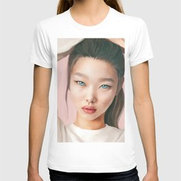 Asian beauty. Blue eyes. Fine art. Digital painting T-shirt