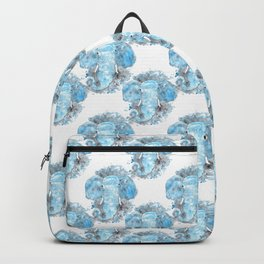 Blue Watercolor Elephant Backpack
