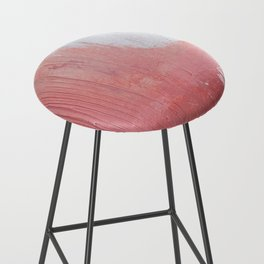 Melody: a pretty minimal abstract painting in gold pink and white by Alyssa Hamilton Art Bar Stool