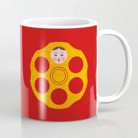 russian Mugs featuring Russian Roulette by John Tibbott