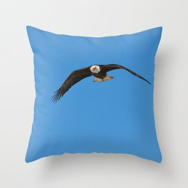 Eagle In Flight - Alaska Throw Pillow
