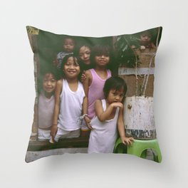 How Many Can We Squeeze into One Hut Throw Pillow