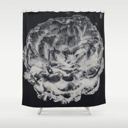 Desert Rose in Black and White Shower Curtain