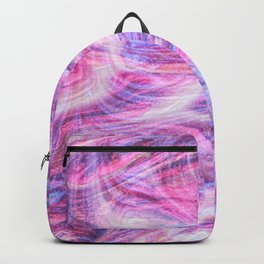 Girly Pink Purple Swirly Abstract Paint Art Backpack