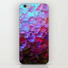 MERMAID SCALES - Colorful Ombre Abstract Acrylic Impasto Painting Violet Purple Plum Ocean Waves Art iPhone Skin