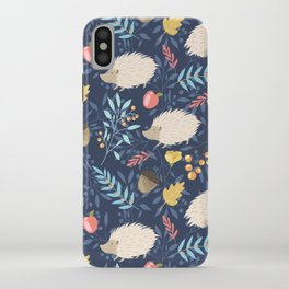 White hedgehogs iPhone Case