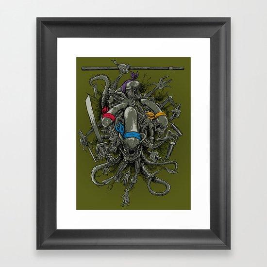 Ancient Ninja Xenomorphs Framed Art Print