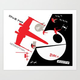 Beat The Empire With A Red Squadron Art Print
