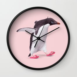 FLIP-FLOP PENGUIN Wall Clock
